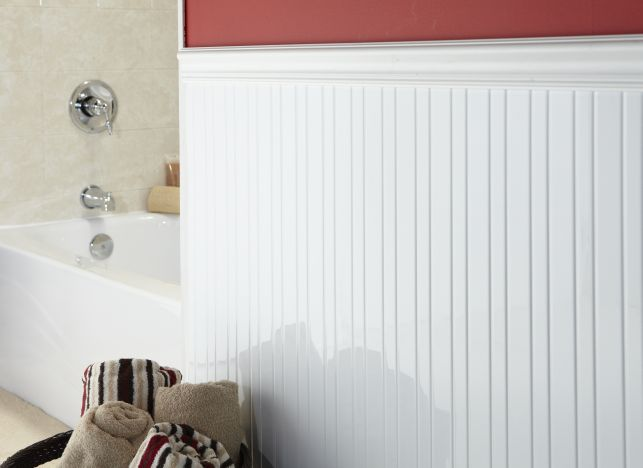 Wainscot. Have Outdated Tile Throughout Your Bathroom?